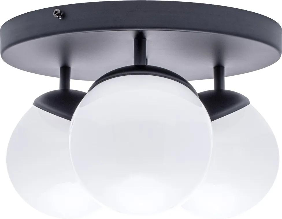 Lustra Plafon SFERA BLACK Milagro Modern, E14, Negru, MLP8858, Polonia