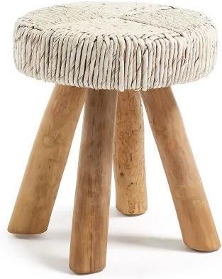 Taburete design rustic IPSO, Ivory