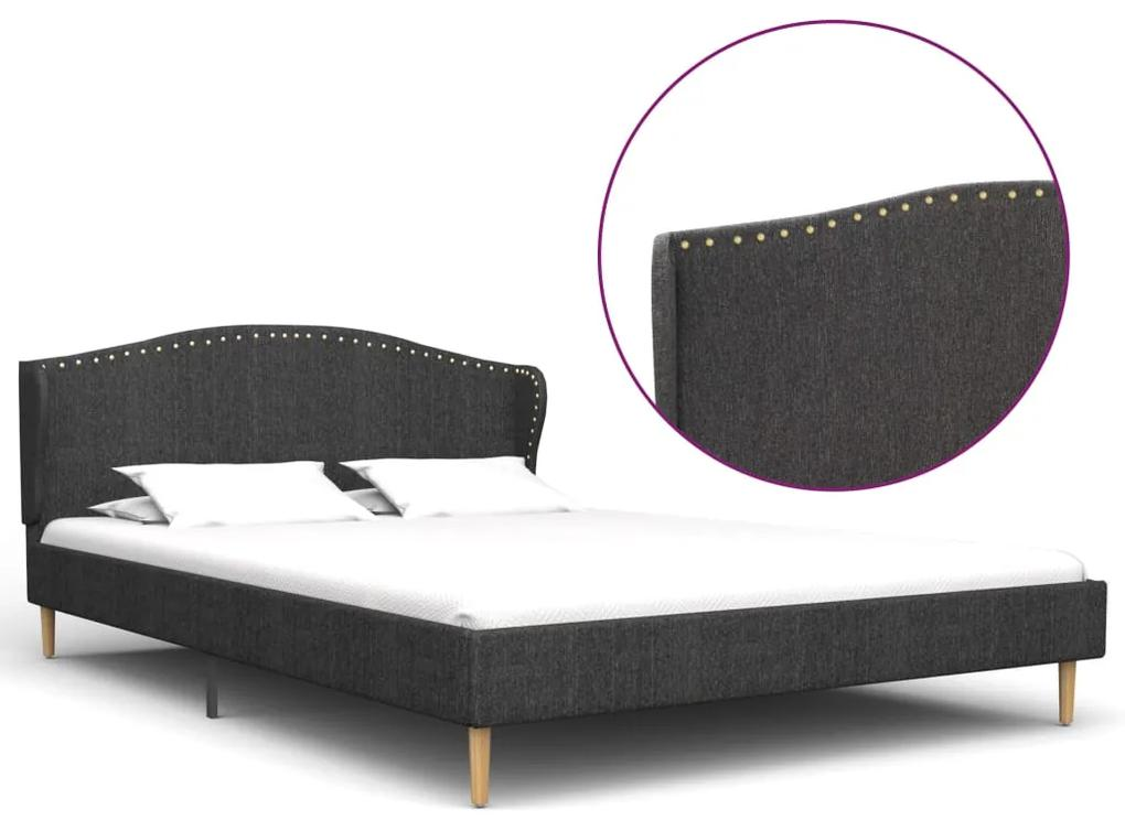 280638 vidaXL Cadru de pat, gri închis, 200 x 120 cm, material textil