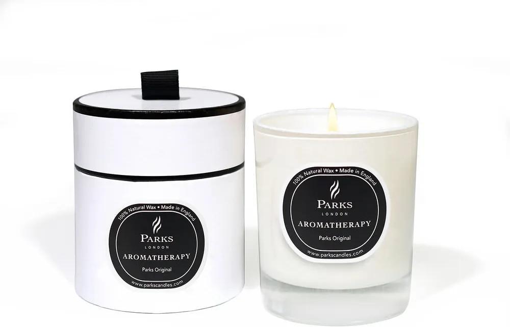 Lumânare parfumată Parks Candles London Aromatherapy, aromă de citrice, bergamota și lemn, durată ardere 45 ore