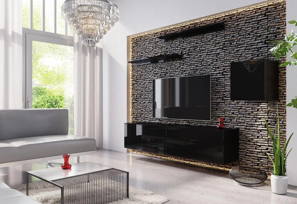 Expedo Mobilă sufragerie ELPASO 16, negru/negru luciu