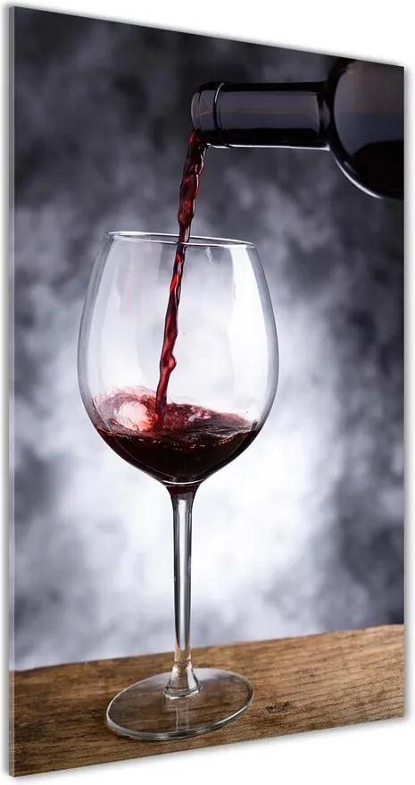 Pictura pe sticlă acrilică Vin rosu