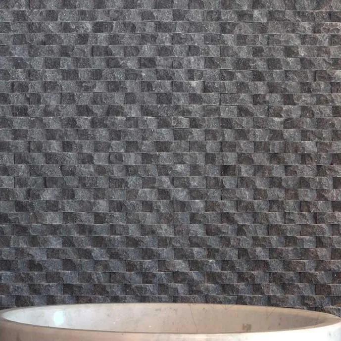 Mozaic Marmura Black Oval Scapitata 1.8 x 5 cm Produs Comanda Speciala