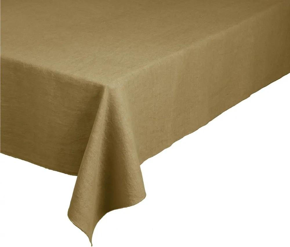 Față de masă din in Blomus, 140 x 260 cm, galben nisipiu