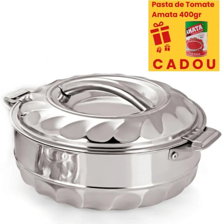 Caserola termos din inox,pereti dubli,7.5 Litri, Pasta de Tomate 400gr