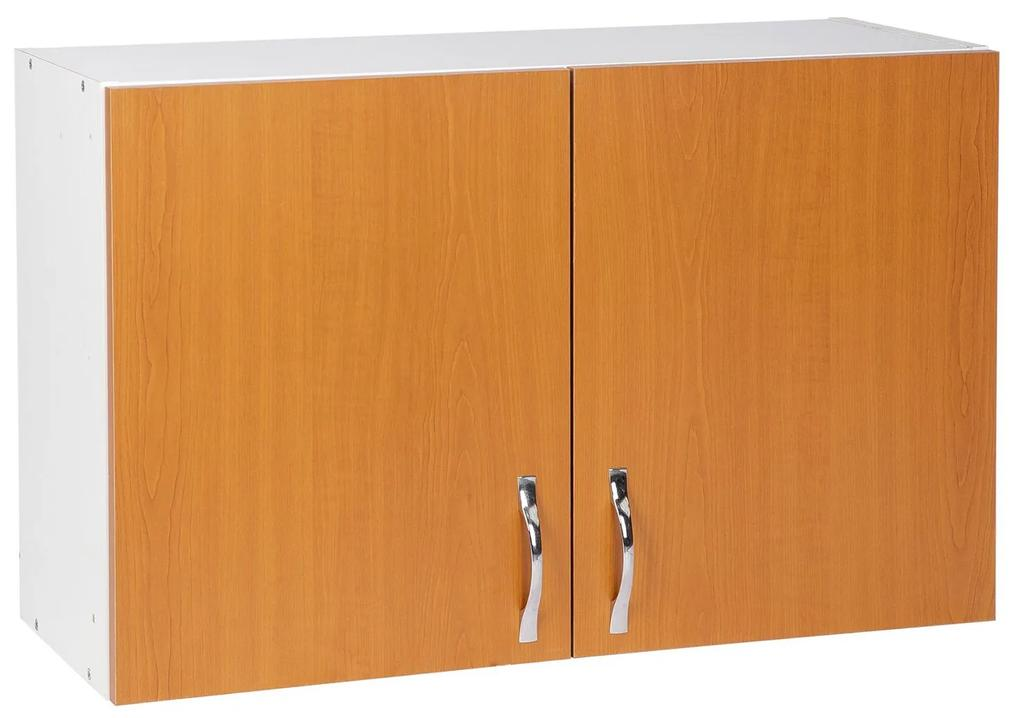 Cabinet suspendat bucatarie, 80x30x50 cm, Arly, PAL Alb/Cires