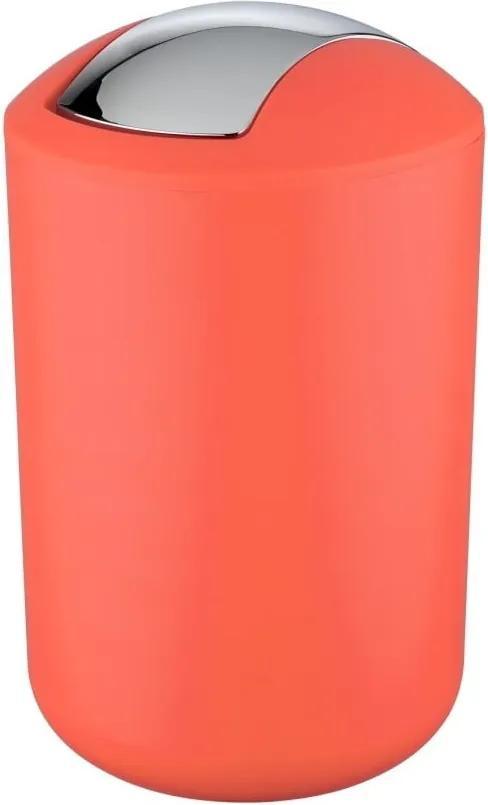 Coș de gunoi Wenko Brasil L, înălțime 31 cm, roșu corai