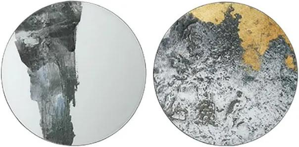 Decoratiune de Perete Rotunda EJNAR M - MDF Multicolor Diametru(60 cm) x Grosime(2 cm)