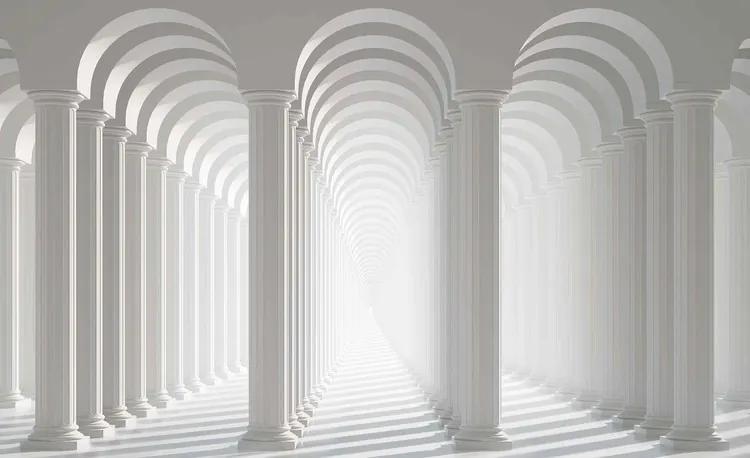 Columns Passage Fototapet, (152.5 x 104 cm)