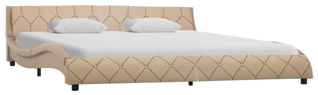 285665 vidaXL Cadru de pat, cappuccino, 180 x 200 cm, piele ecologică