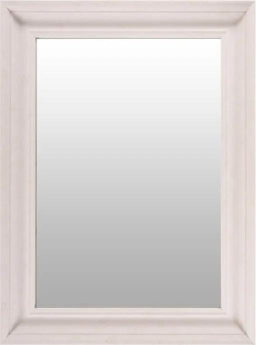 Oglinda dreptunghiulara cu rama din polistiren alba Scott, 79,5cm (L) x 59,5cm (L) x 5,2cm (H)