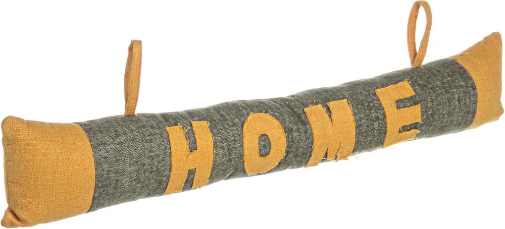 Opritor de usa textil gri galben Home 80x15h