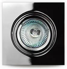 Spot argintiu din metal Halogen Lamp Square Chrome Maxlight