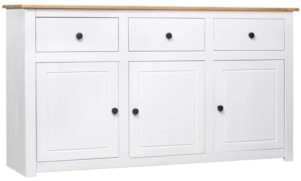 282705 vidaXL Servantă, alb, 135 x 40 x 80 cm, lemn masiv de pin, gama Panama