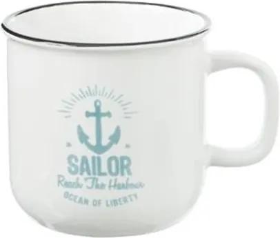 Cana Sailor XL White, ceramica, 9,7x9,5, 420 ml,