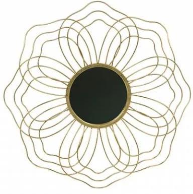 Decoratiune cu oglinda din alama pentru perete 50 cm Handsome Antique