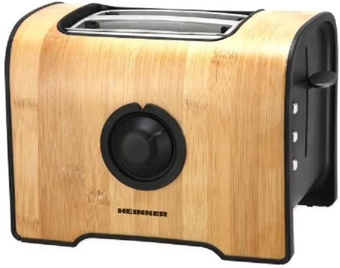 Prajitor de paine Heinner HTP-BB870 , 870W, 6 Trepte rumenire, Bambus HTP-BB870