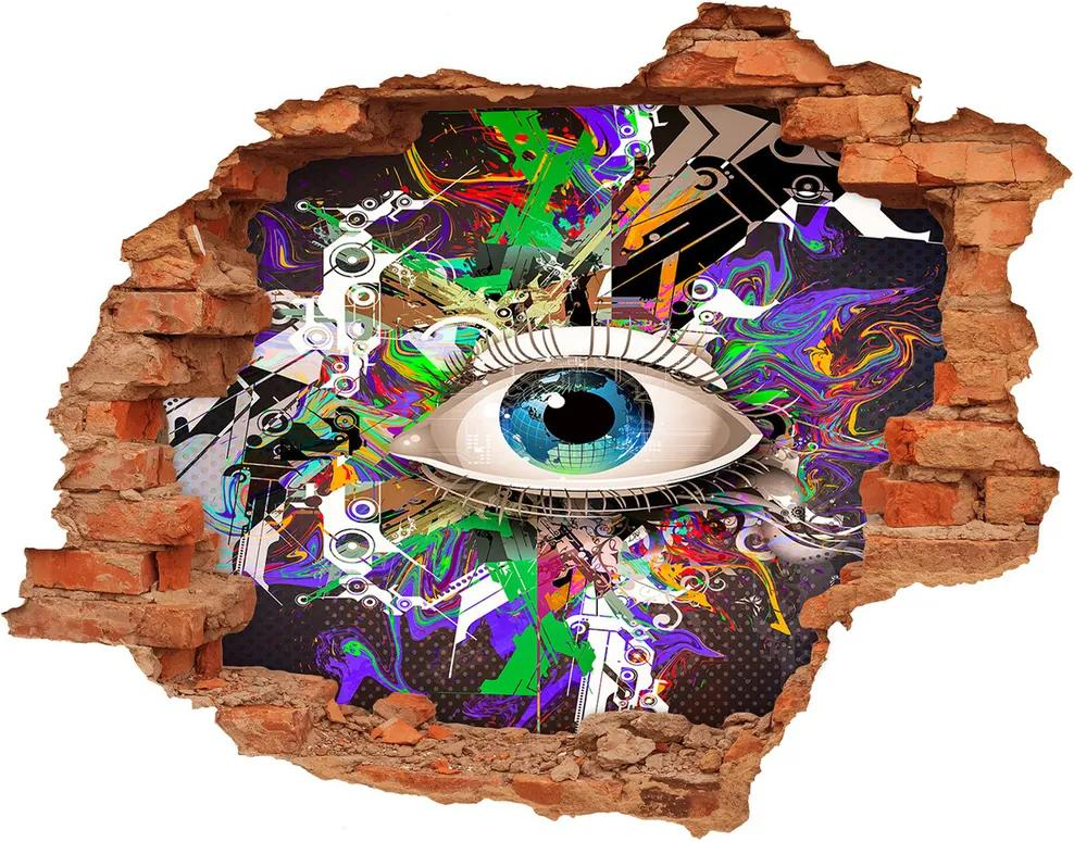 Fototapet un zid spart cu priveliște Ochi abstract