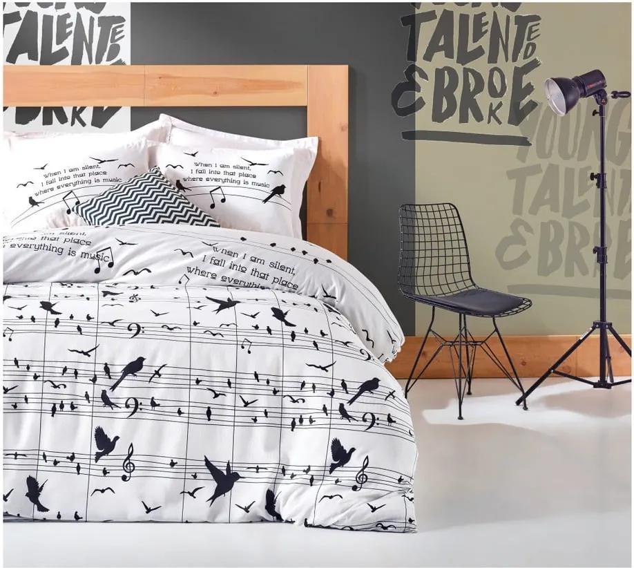 Lenjerie de pat cu cearșaf și 2 fețe de pernă Tura, 200 x 220 cm