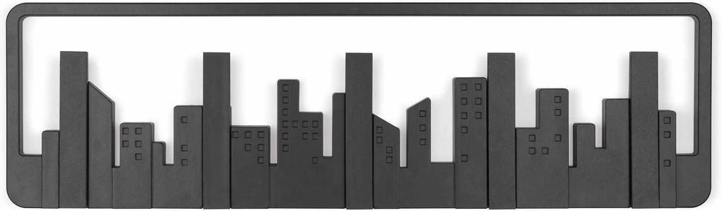 Cuier pentru perete SKYLINE - Negru