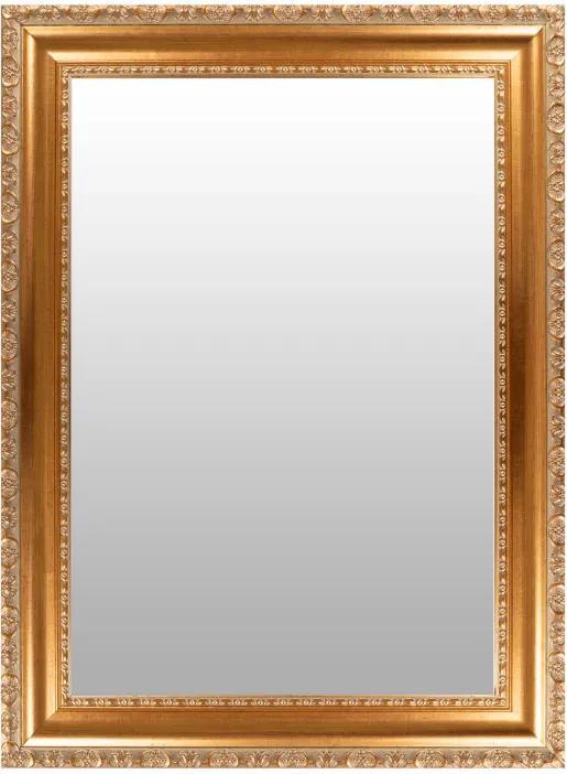 Oglinda dreptunghiulara cu rama din polistiren aurie Sirius, 78,7cm (L) x 58,7cm (W) x 3cm (H)