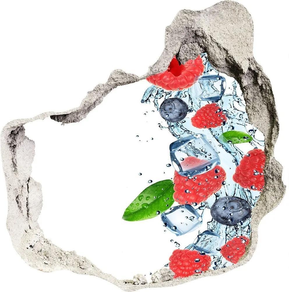 Fototapet un zid spart cu priveliște Fructe de pădure cu gheață