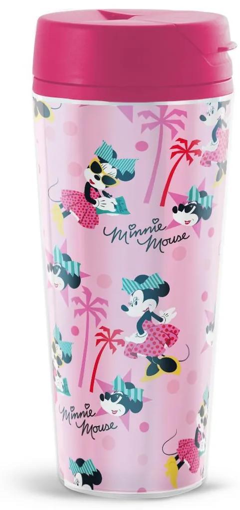 Cana termos 450ml roz Minnie