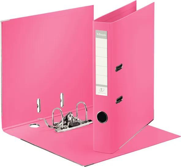 Biblioraft plastifiat ESSELTE 5cm roz standard