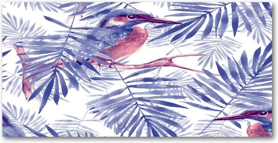Imagine de sticlă Plante și păsări