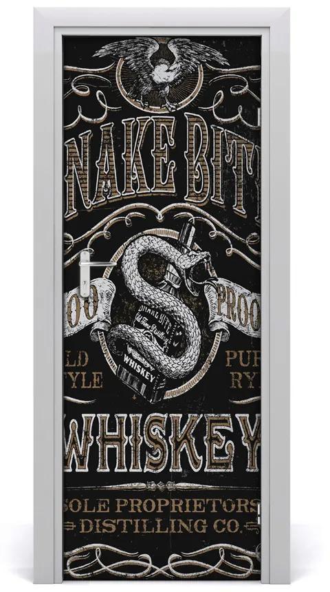 Autocolante pentru usi spune Whisky