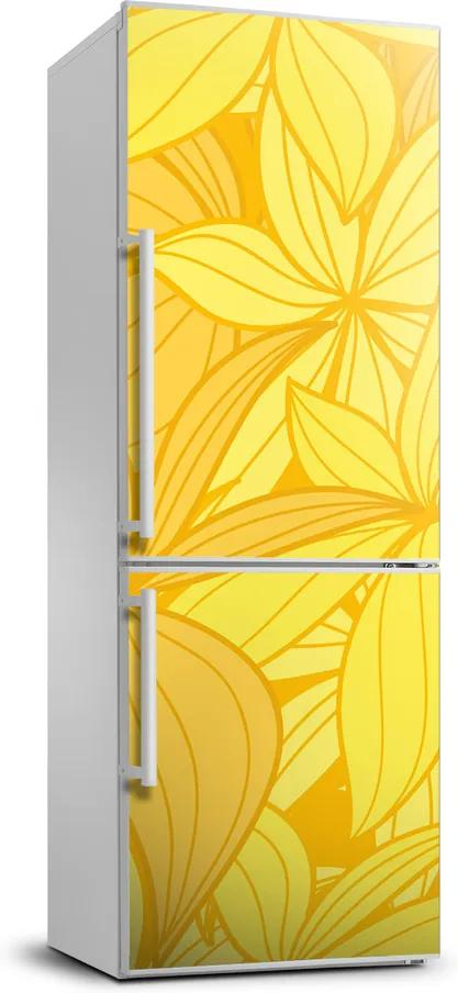 Autocolant pe frigider Flori galbene