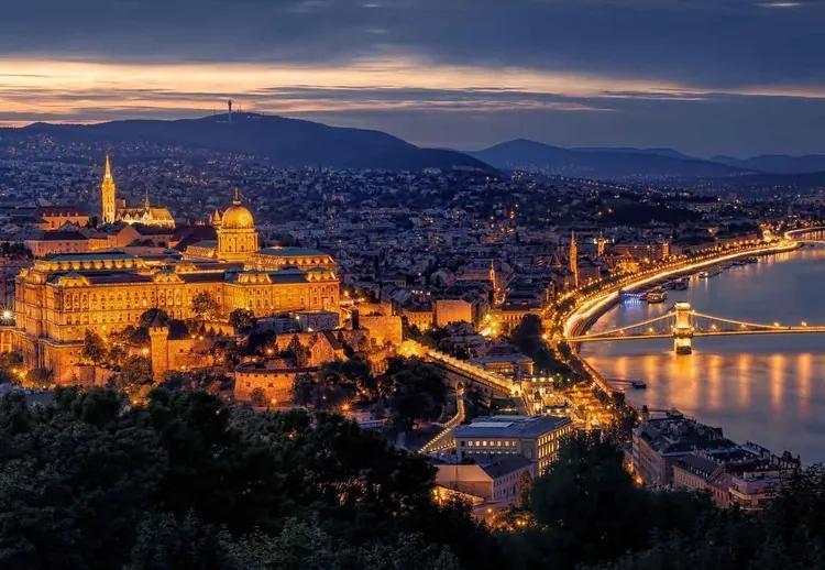 Panorama Of Budapest Fototapet, (104 x 70.5 cm)