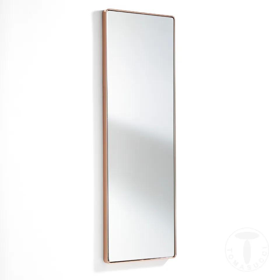 Oglinda de perete cu rama metalica, NEAT COPPER h.120 x l.40 x p.3.5 Tomasucci