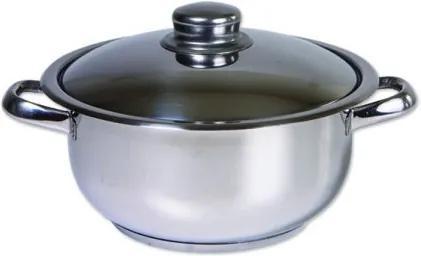 Oala inox cu capac, Cocinera, 28 cm, 10 L, 3 straturi