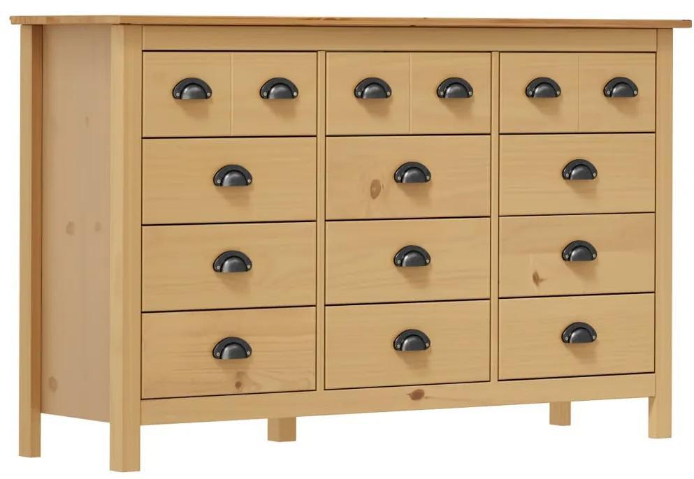288987 vidaXL Servantă Hill Range, 130 x 37 x 80 cm, lemn masiv de pin