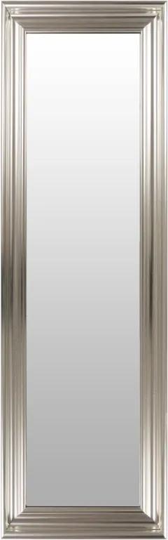 Oglinda dreptunghiulara cu rama din polistiren argintie Scott, 147,5cm (L) x 47,5cm (L) x 5,2cm (H)