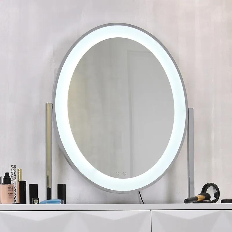 Oglindă sistem iluminare bandă LED cu 3 culori, Senzor Tactil, Luminozitate Reglabilă, Argintiu, GLAM 1SS