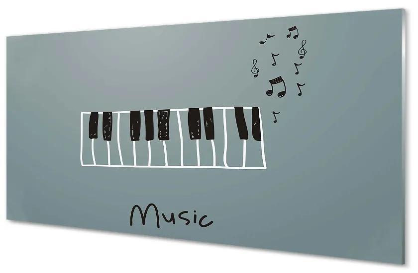 Tablouri pe sticlă note de pian