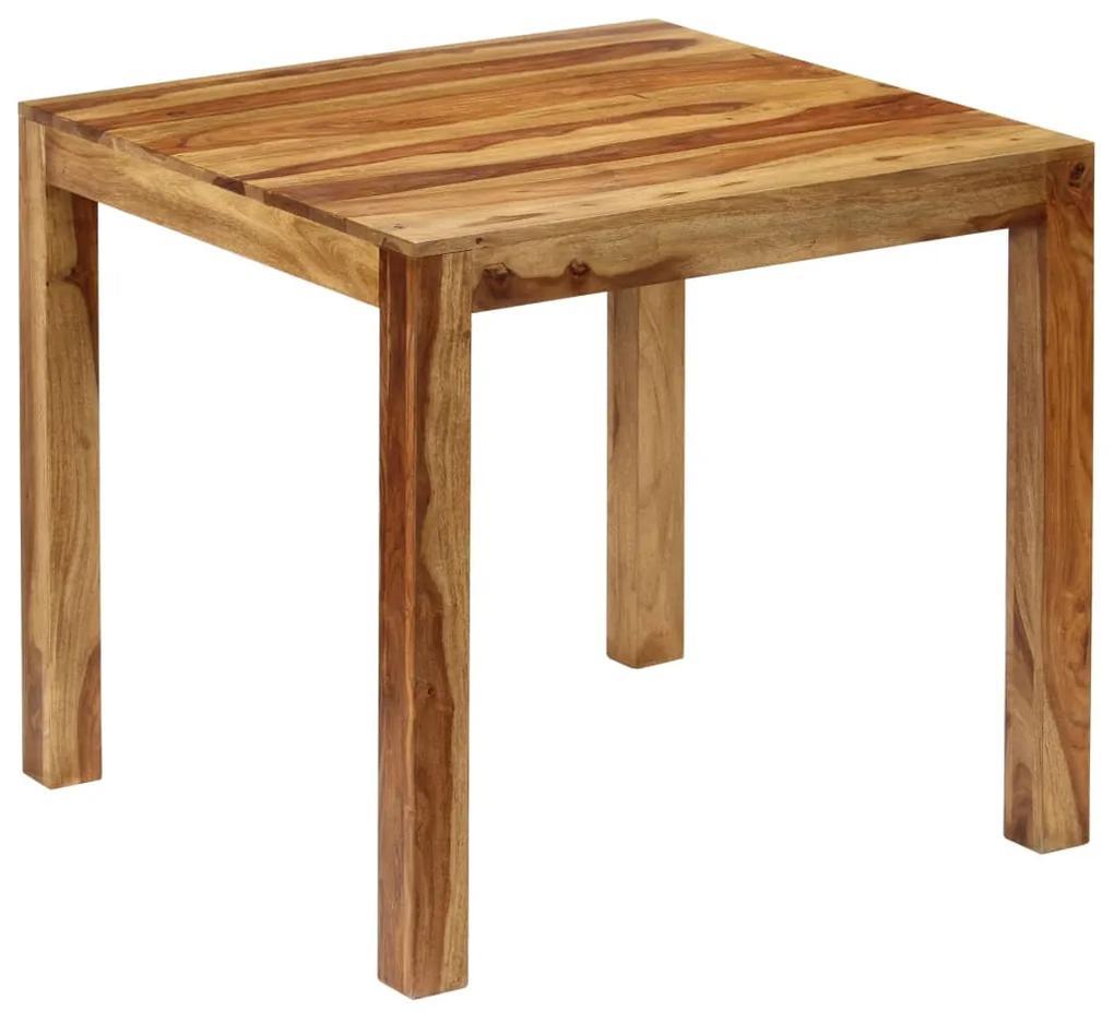 246212 vidaXL Masă de bucătărie, lemn masiv de sheesham, 82 x 80 x 76 cm