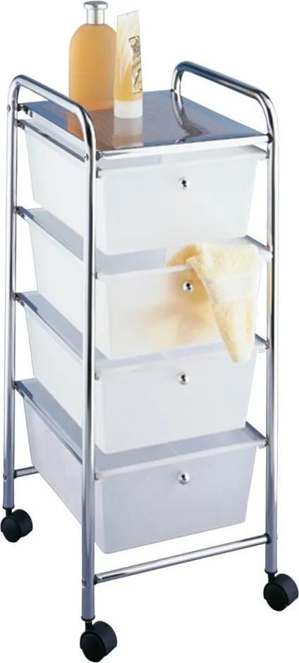 Raft mobil pentru baie, 4 compartimente, Wenko Messina