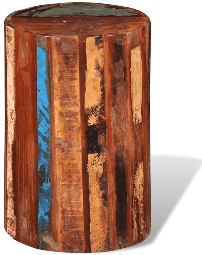 241628 vidaXL Taburet, lemn masiv reciclat