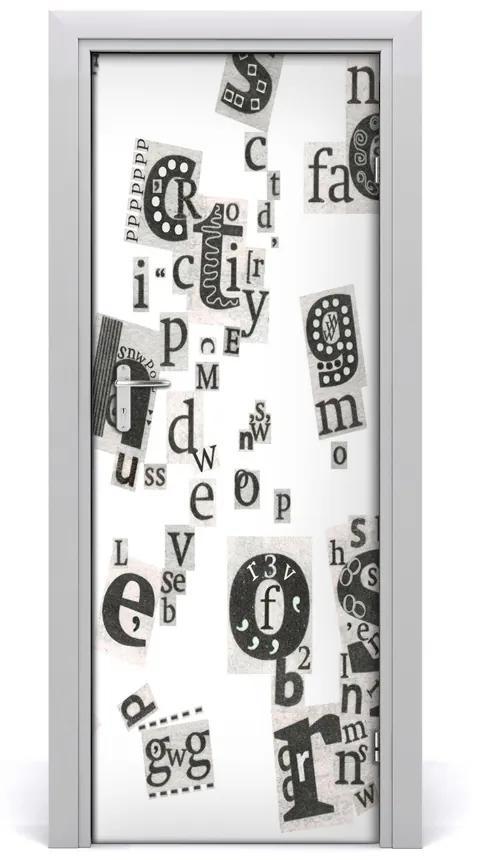 Autocolante pentru usi Scrisori din ziare