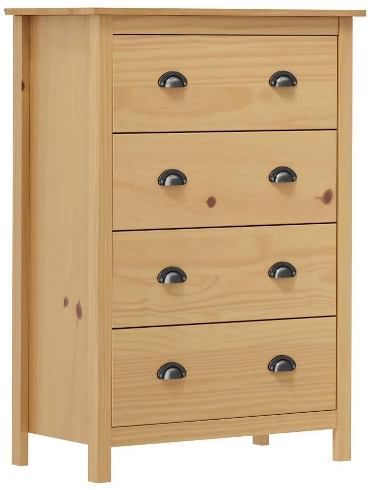 288979 vidaXL Servantă Hill Range, 4 sertare, 79x40x110 cm, lemn masiv pin