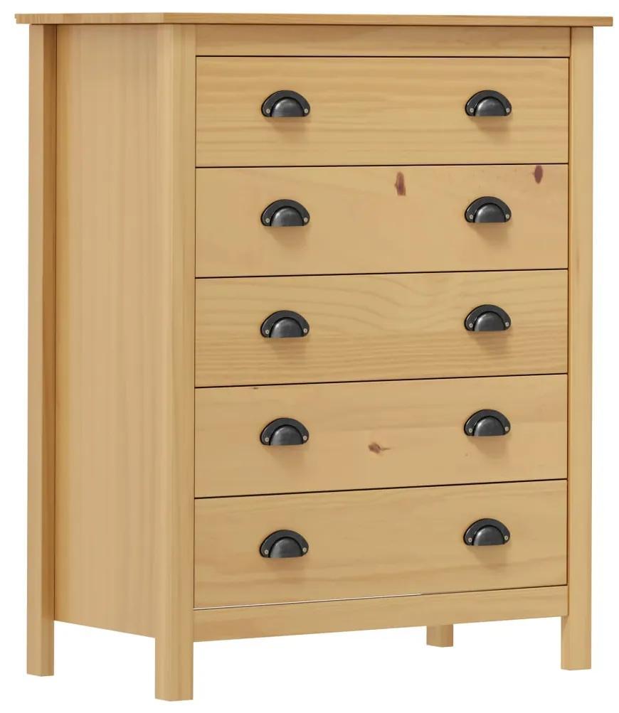 288975 vidaXL Servantă Hill Range, 5 sertare, 79x40x96,5 cm, lemn masiv pin