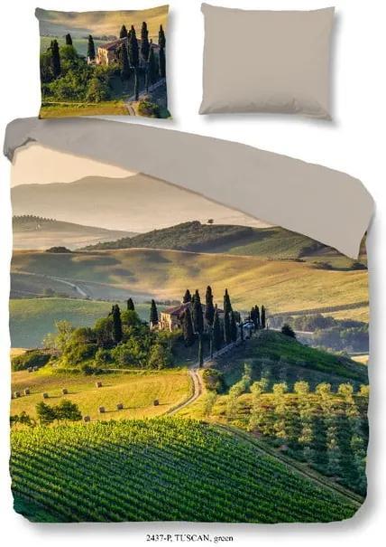 Lenjerie de pat din bumbac Good Morning Tuscan, 200 x 200 cm