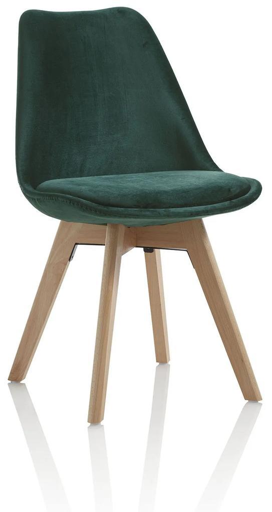 Scaun OSBY, Catifea, Verde Maro, 48.5x47x81.5 cm