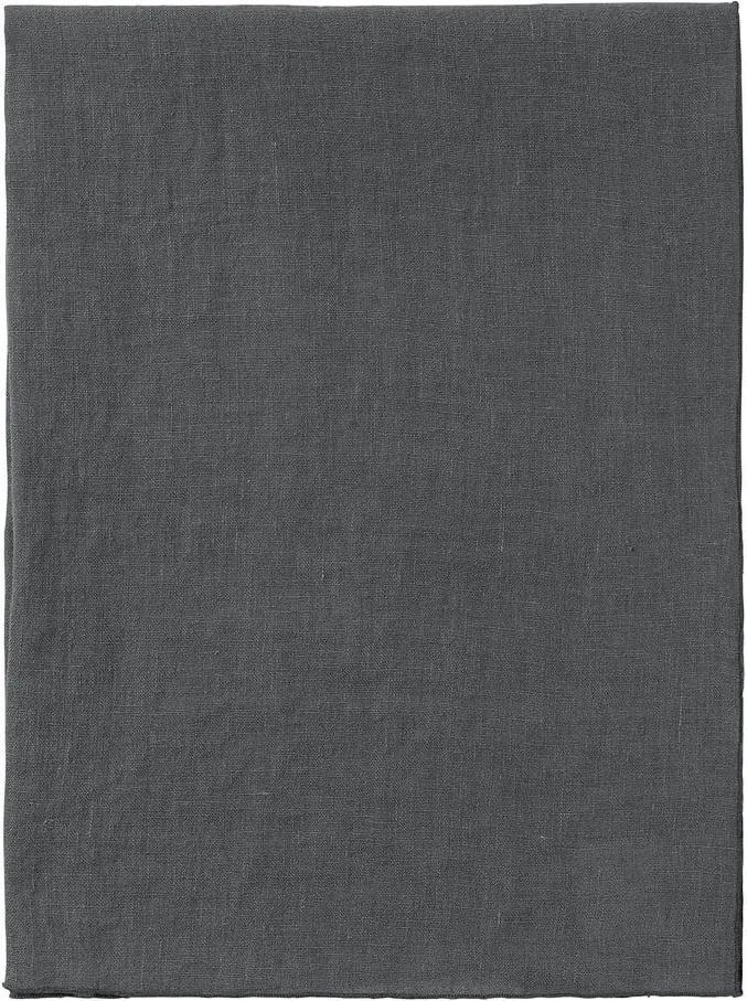Napron / șervet din in pentru masă Blomus 140 x 45 cm, gri închis