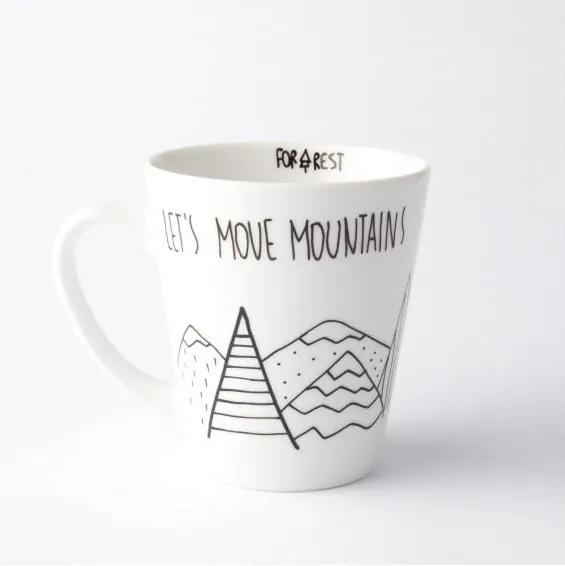 Cană Let´s Move Mountains, 400 ml