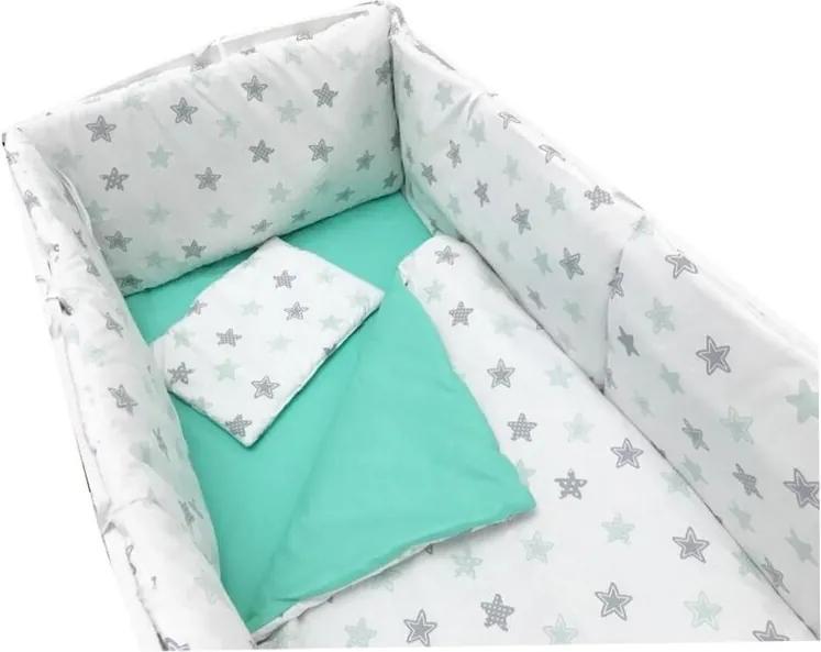 Deseda - Lenjerie de pat bebelusi 120x60 cm cu aparatori laterale pufoase  Somn lin