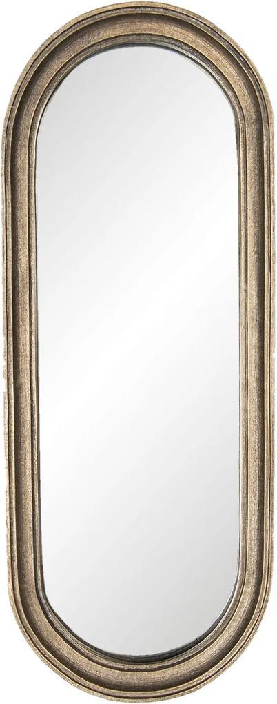 Oglinda decorativa perete polirasina maro vintage 15 cm x 2 cm x 41 cm
